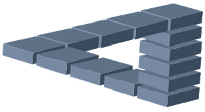 Optical illusion bricks