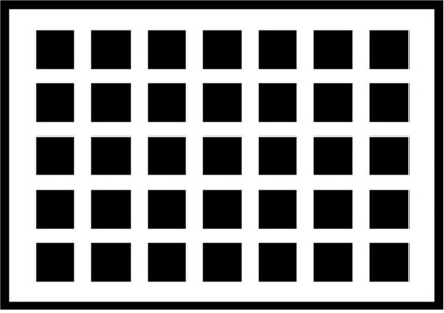 Optical illusion grid black and white