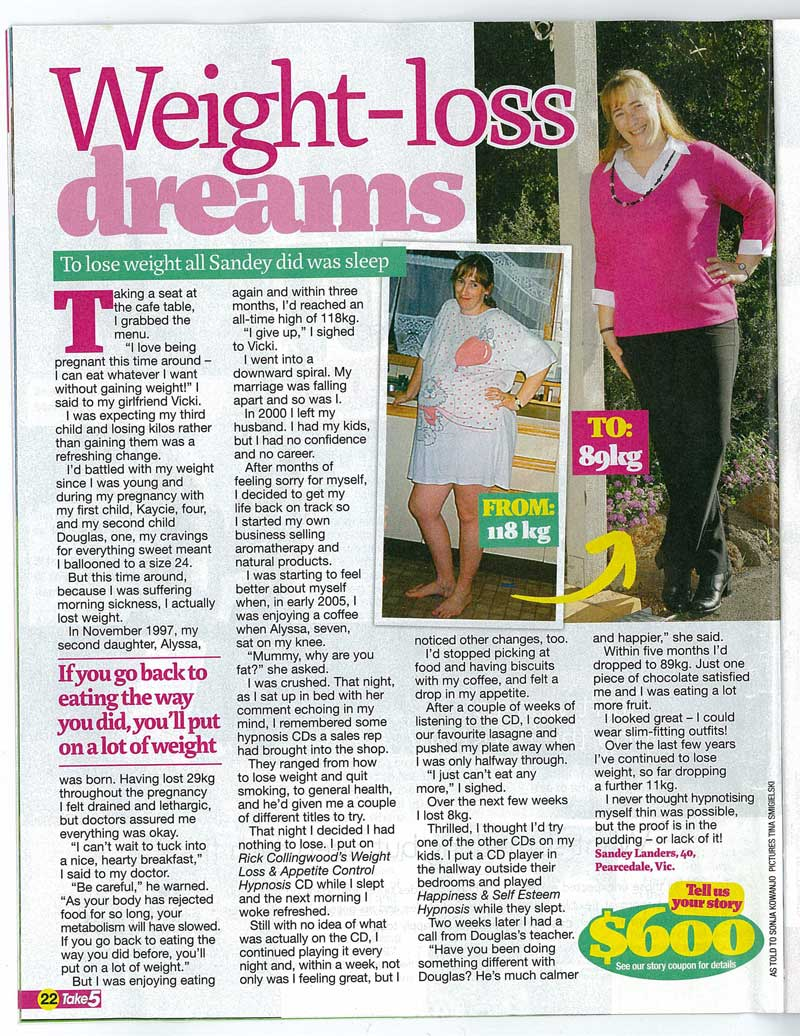 magazine posting exactly how in order to shed weight
