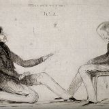 Historical illustration of Mesmer mesmerizing a client