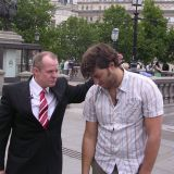 Rick with OJ from MTV Trafalgar Square London