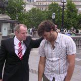 Rick with OJ from MTV Trafalgar Square London