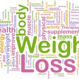 Lots of weight loss related words (stock image)