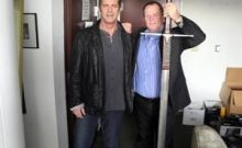 Rick with Mel Gibson