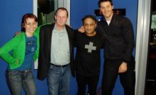 Rick with Akmal, Cal & Ed from Nova 100